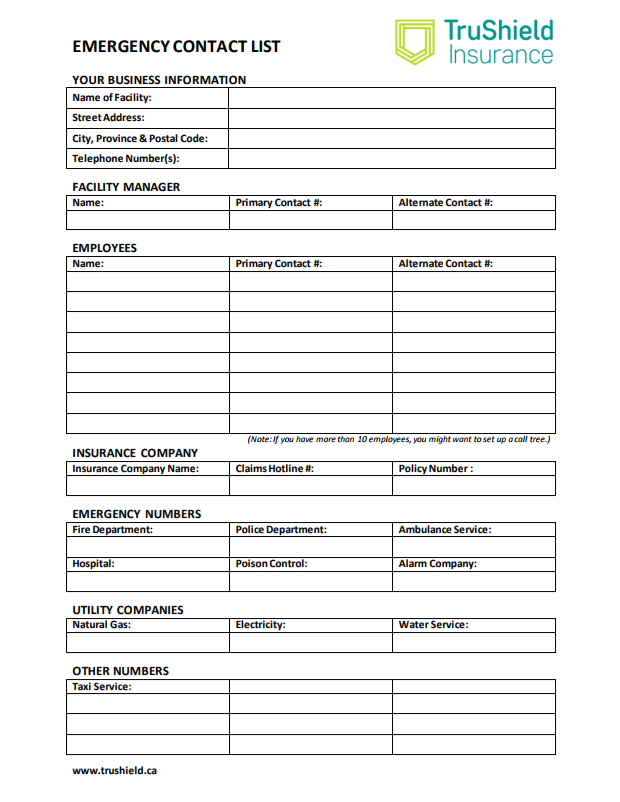 Employee Listing Template from www.trushieldinsurance.ca