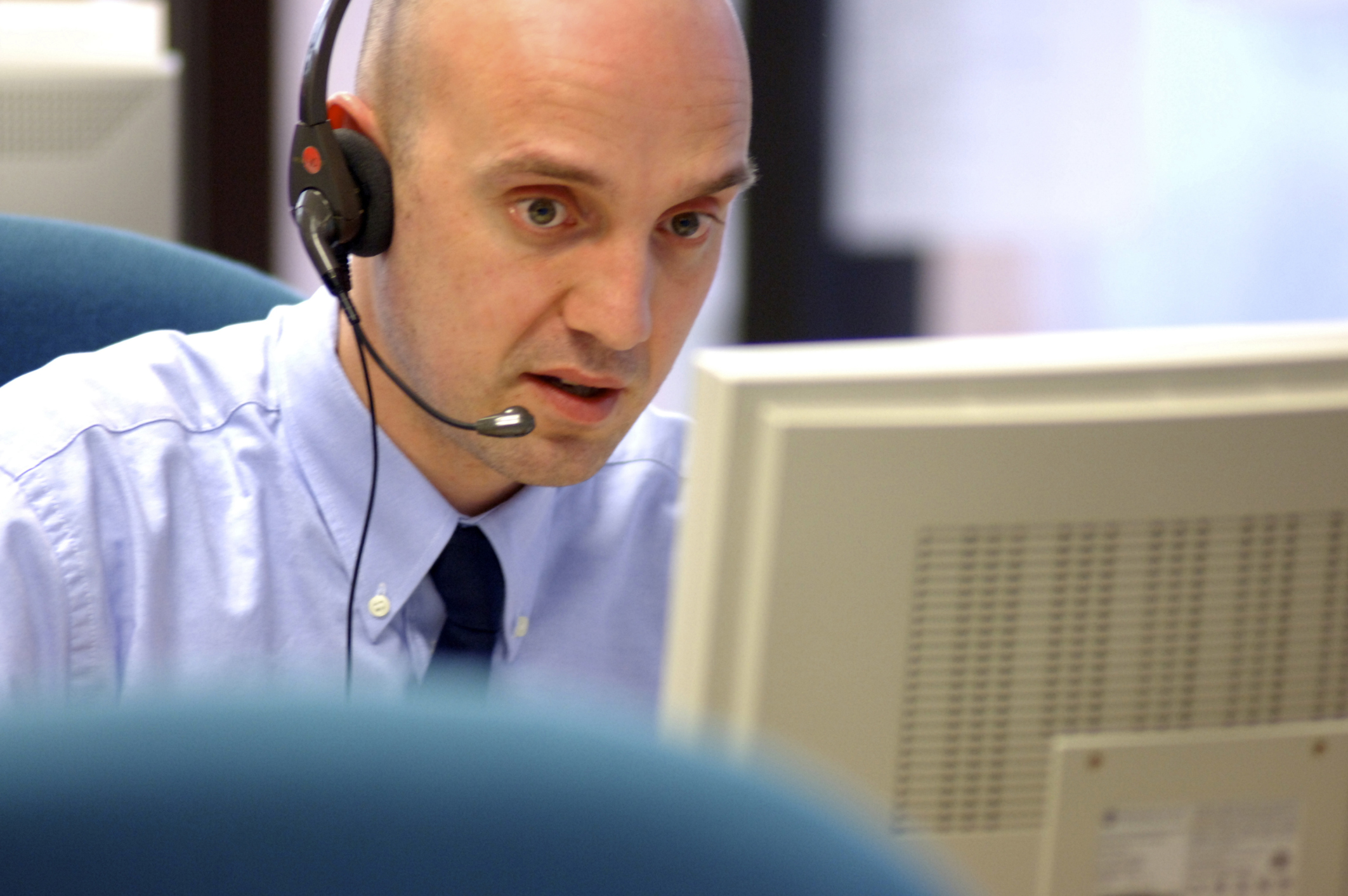 sales person working in call centre