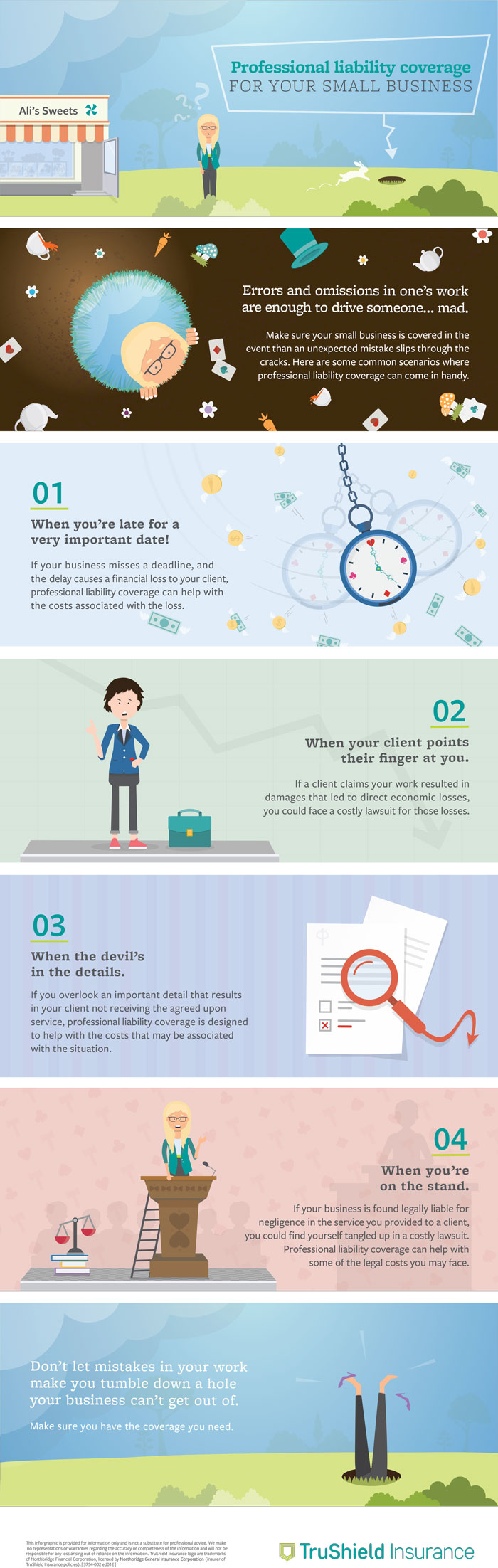 TruShield- Infographic on professional liability for your small business