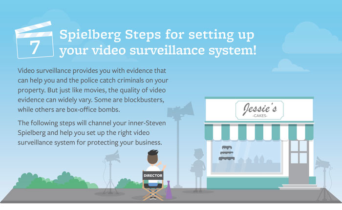 Infographic teaser on 7 steps for setting up your video surveillance system