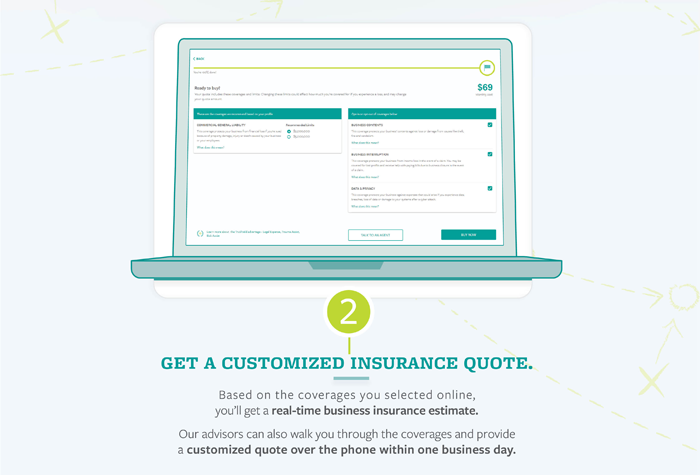 TruShield Infographic- Step 2 Get a customized insurance quote