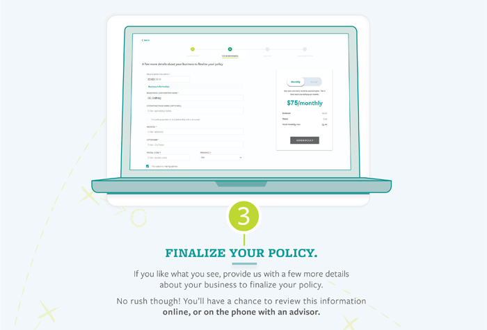 TruShield Infographic- Step 3 Finalize your policy
