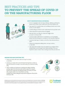 TSI- Best practices and tips to prevent the spread of COVID-19 on the manufacturing floor